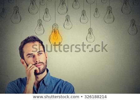 アイデア · 電球 · 手 · 図面 · マーカー - ストックフォト © hasloo