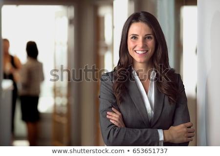 熱狂的な · 幸せ · 女性実業家 · スタイリッシュ · ミニスカート - ストックフォト © dolgachov