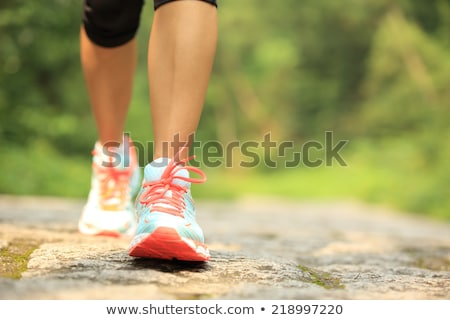 red and green womens sport shoes stock photo © ozaiachin