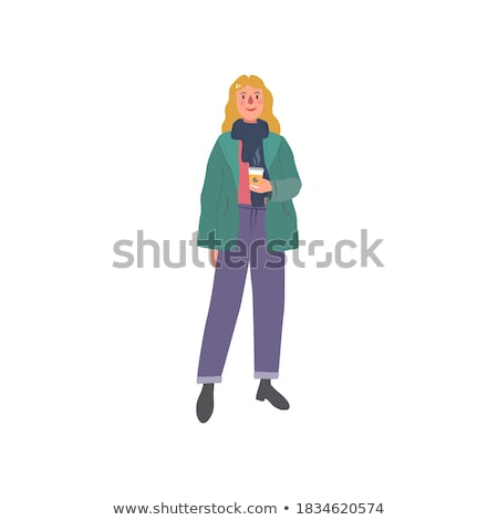 довольно блондинка зима моде кружка Сток-фото © wavebreak_media