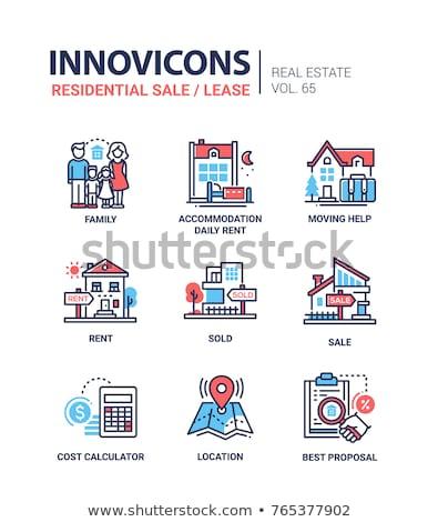üzlet felirat kék vektor ikon terv Stock fotó © rizwanali3d