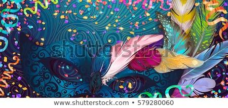 meisje · ontwerp · mooi · meisje · vergadering · vrouw · masker - stockfoto © netkov1