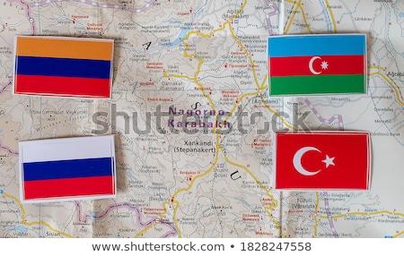 Turquia Armênia bandeiras quebra-cabeça isolado branco Foto stock © Istanbul2009