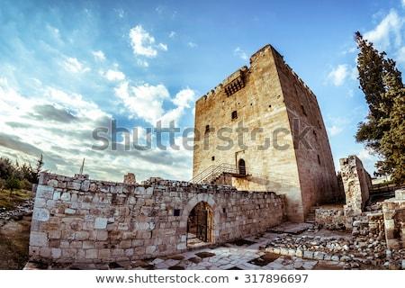 middeleeuwse · stenen · muur · man · oorlog · goud · strijd - stockfoto © kirill_m