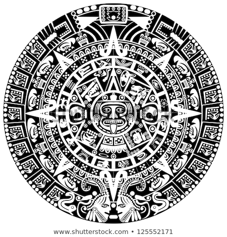 Mayan calendar, illustration Stock photo © Morphart