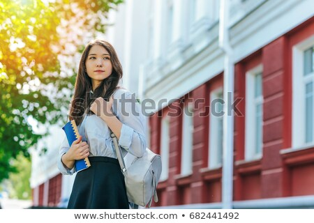 красивая девушка блузка юбка красивой белая блузка Сток-фото © svetography