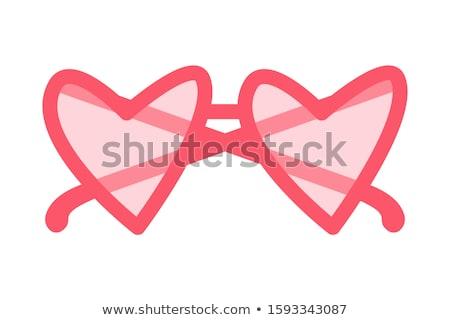 Rojo rosa gafas playa ojo moda Foto stock © shutswis
