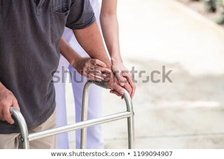 Senior woman using a walker stock photo © dzejmsdin