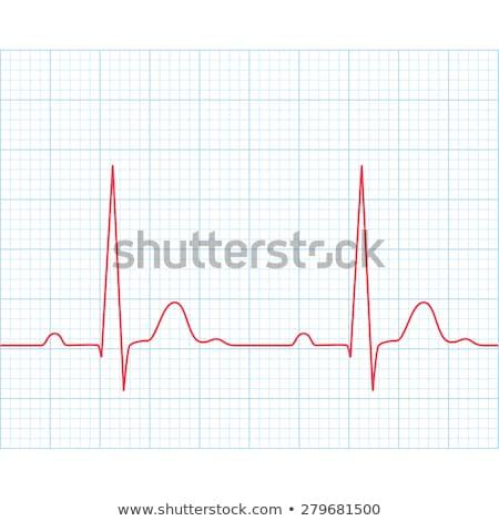 ЭКГ кардиограмма прибыль на акцию щетка готовый Сток-фото © beholdereye