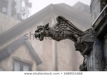 Gothic Background with Chimera Sculptures Stock photo © dariazu