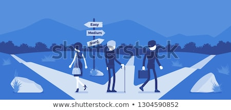 three faceless boys and three faceless girls stock photo © bluering