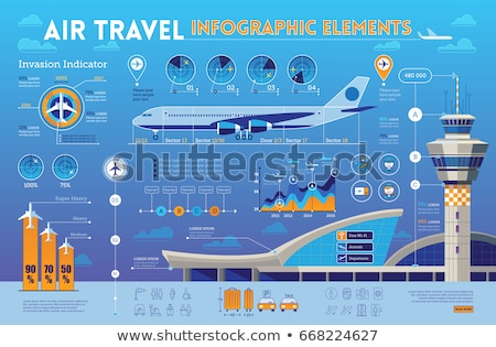 An infographics with an airplane Stock photo © bluering