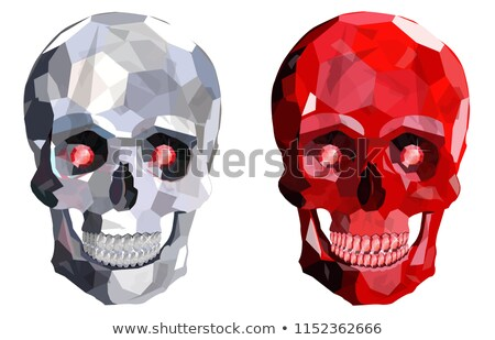 Skull with bones from rubies. Jewelry symbol of death. Vector il Stock photo © MaryValery
