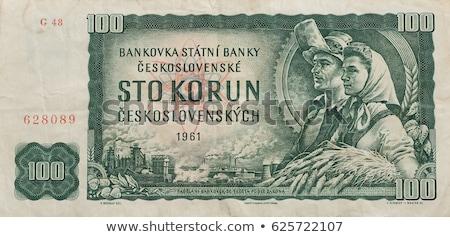 Oude tsjechisch bankbiljetten geld alle echt Stockfoto © Peteer