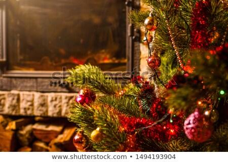 advent · çelenk · şömine · ışık · tatil · kutlama - stok fotoğraf © ozgur