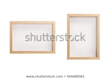 Square Carved Oak Picture Frame Stock photo © peterguess