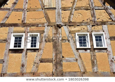detail of half timbered house wall  Stock photo © meinzahn