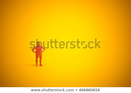 Retro swimmer with lot of yellow sunny copyspace Stock photo © Kirill_M