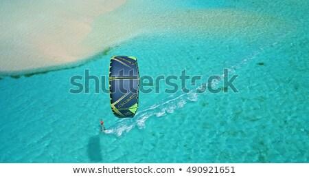 Kiteboarding Tropical Island Stock photo © THP