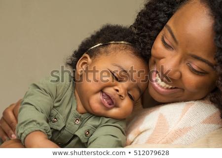 Anne bebek kız birlikte yatak odası aile Stok fotoğraf © tekso