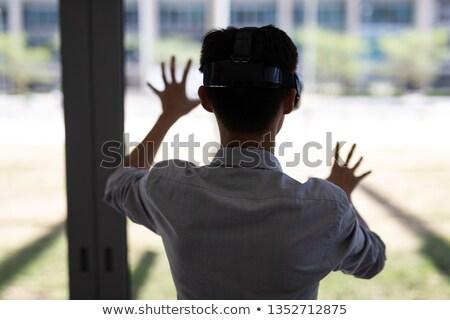 вид сзади бизнесмен очки рабочих белый человека Сток-фото © wavebreak_media