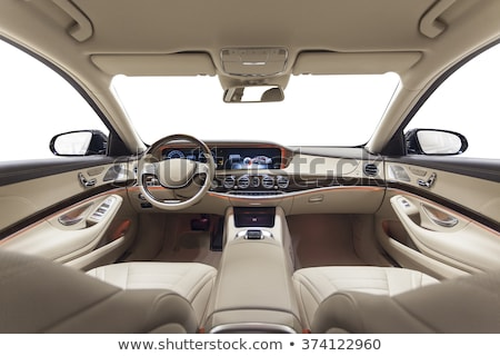 Car interior with steering wheel and dashboard Stock photo © wavebreak_media