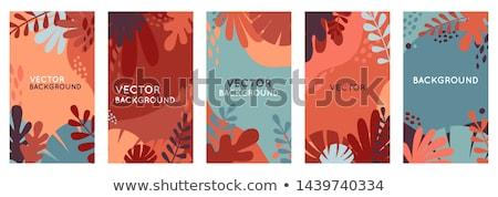 抽象的な 秋 デザイン カラフル 葉 ストックフォト © ivaleksa