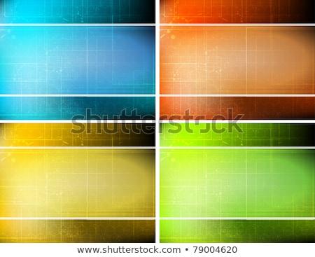 ストックフォト: 国境 · テンプレート · 4 · 色 · 実例 · 芸術