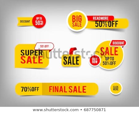 Piros keret címke árengedmény matrica vásár Stock fotó © romvo