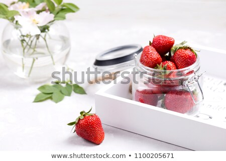 plate of strawberry compote Stock photo © Digifoodstock