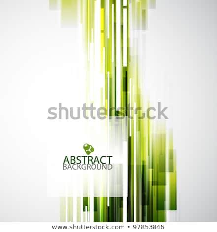 Modieus vector patroon groene abstract meetkundig Stockfoto © RedKoala
