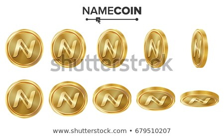 Namecoin Blockchain Cryptocurrency - Vector Coin Image. Stock photo © tashatuvango