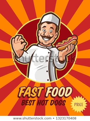 Chef with Hotdog Stock photo © IS2