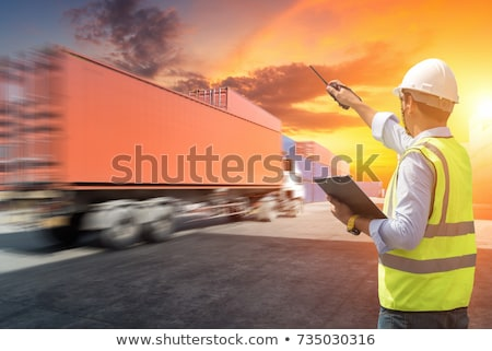 Workers talking in shipping yard Stock photo © IS2