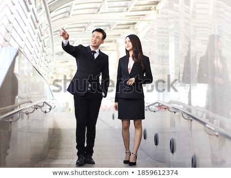 Businesswomen talking on walkway Stock photo © IS2