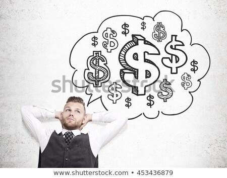 европейский бизнесмен знак доллара стороны корпоративного деловые люди Сток-фото © studioworkstock