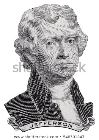 Elnök arc kettő dollár számla közelkép Stock fotó © vlad_star