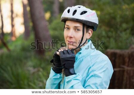 Femminile piedi mountain bike foresta ritratto Foto d'archivio © wavebreak_media