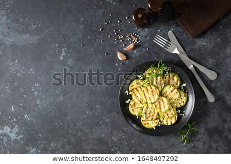 A la parrilla calabacín hierbas fondo cena comida Foto stock © M-studio