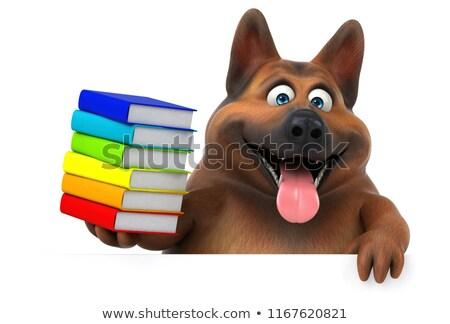 Zabawy pasterz psa 3d ilustracji pić zwierząt Zdjęcia stock © julientromeur