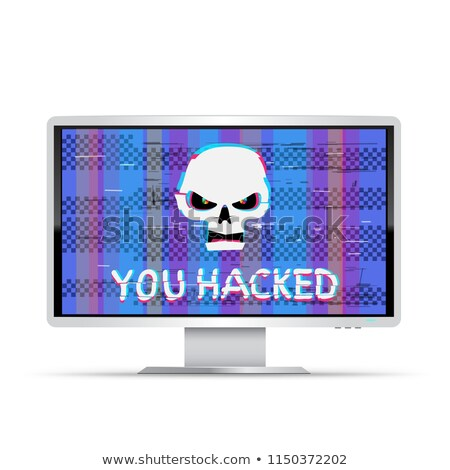 you hacked text on wide monitor Stock photo © romvo