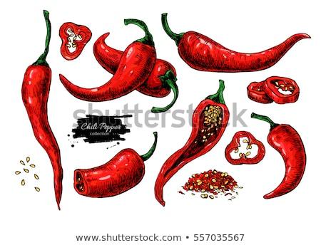 hot pepper set stock photo © srnr