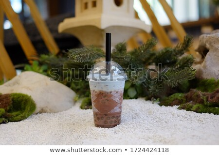 sour cream in plastic glass Stock photo © olegtoka