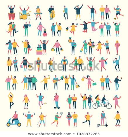 música · conjunto · projeto · estilo · ícones · isolado - foto stock © decorwithme
