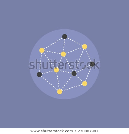 Node Flat Vector Icon Stock photo © smoki