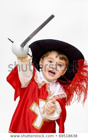 Little boy in musketeer suit Stock photo © acidgrey