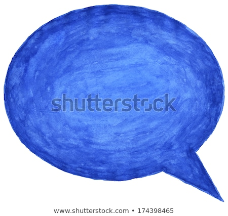 Dialog Bańka pędzlem ilustracja sztuki przestrzeni Zdjęcia stock © get4net