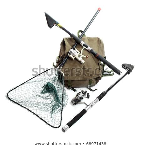 fishing equipment isolated on white background stock photo © robuart
