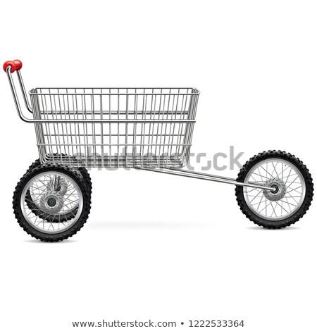 Vector Supermarket Trolley for Bikers Stock photo © dashadima