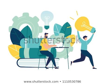 Karikatür fikir örnek adam erkekler grafik Stok fotoğraf © cthoman